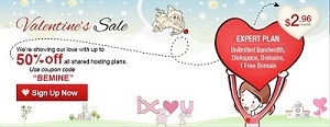 IX Web Hosting Valentine's Day Sale $2.96/Month