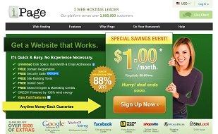 iPage Web Hosting Sale $1/Month
